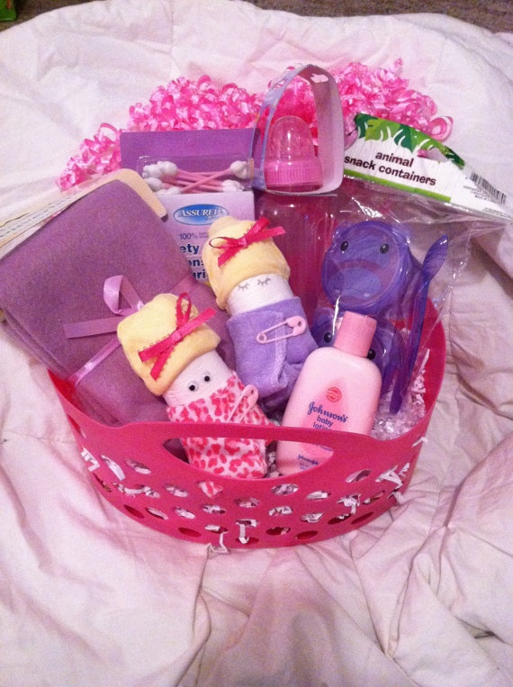 Baby shower / Welcome Baby / Baby Girl Gift Basket by BuyBillerman, $12.00