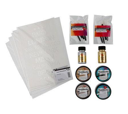 KARIN JITTENMEIER Textildesign Royal Flash & A4-Schablonen 19tlg.
