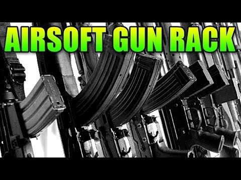 LevelCap's Airsoft Gun Collection (Gun Rack) - YouTube