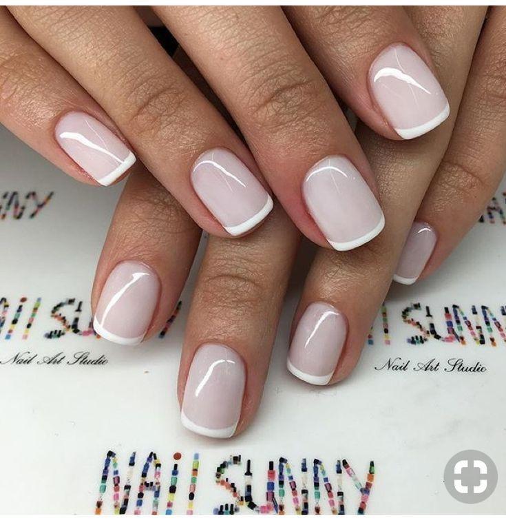 Classy Nails Nailart Trendy Nails French Tip Nails Gel Nails French