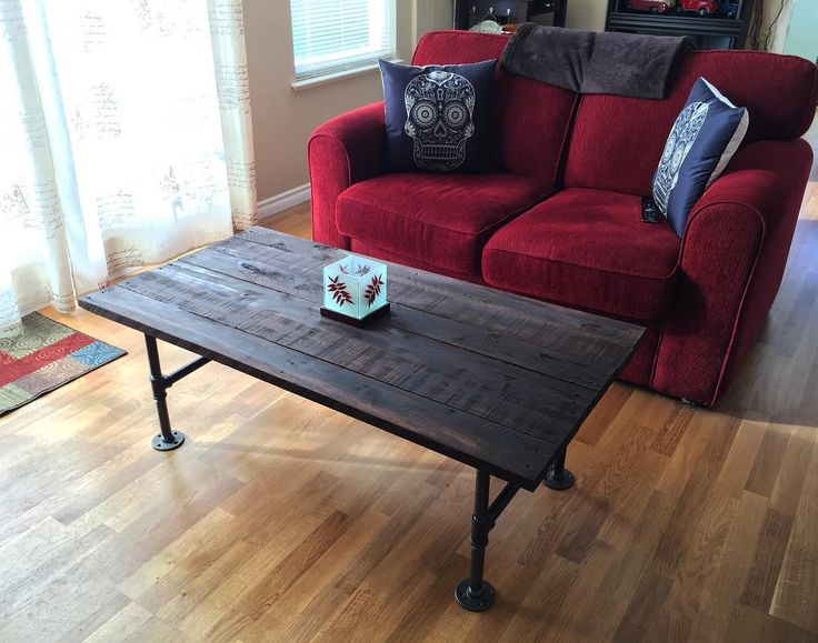 LVE having a handy hubby! My #Pinterest dreams have become a reality! @Scootty33 made this rustic table for our downstairs family room. Pallet wood  black iron pipe =  #palletfurniture #palletwood #pipefurniture #rustic #diy #homemade #handmade #custom #customfurniture #furniture #coffeetable #homedecor #homedesign #vintageinspired #handyman #homesweethome #lovehim #thankyou #instahome #weekend #project #instalove #instagood #instamood #instagramaddict #sugarskull by lindsaybissett