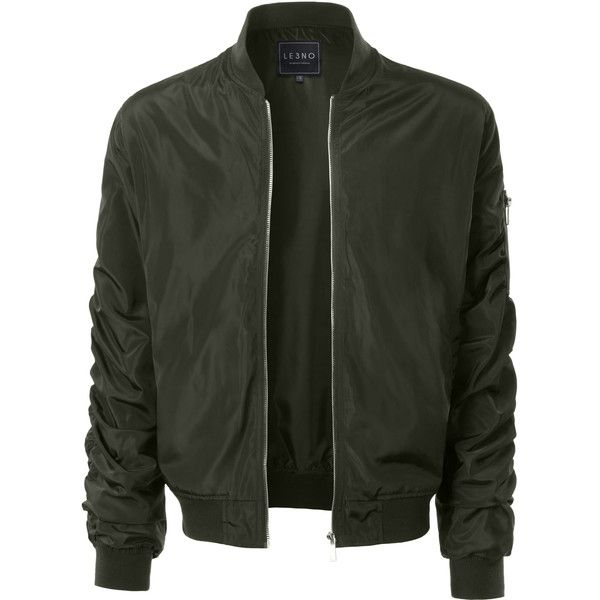 LE3NO Mens Lightweight Nylon Hipster Windbreaker Zip Up Bomber Jacket ($39) ❤ liked on Polyvore featuring men's fashion, men's clothing, men's outerwear, men's jackets, mens nylon jacket, mens flight jacket, mens hipster jackets and mens zip up jackets