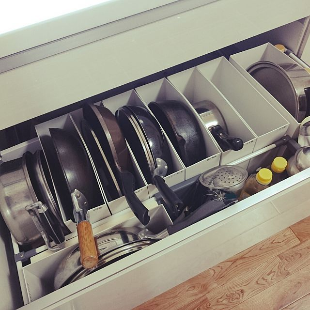 キッチン システムキッチン リフォーム キッチンツール フライパン収納