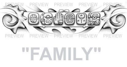 family mayan glyphs tattoo design d 187 � aztec tattoos