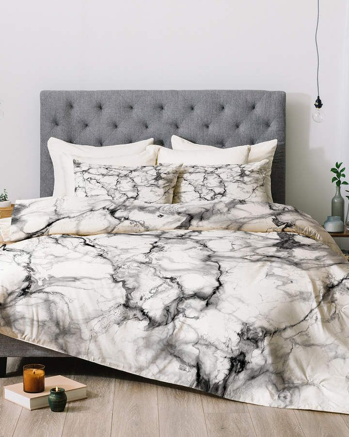 Deny Designs Chelsea Victoria Grey Marble Comforter Set Marble