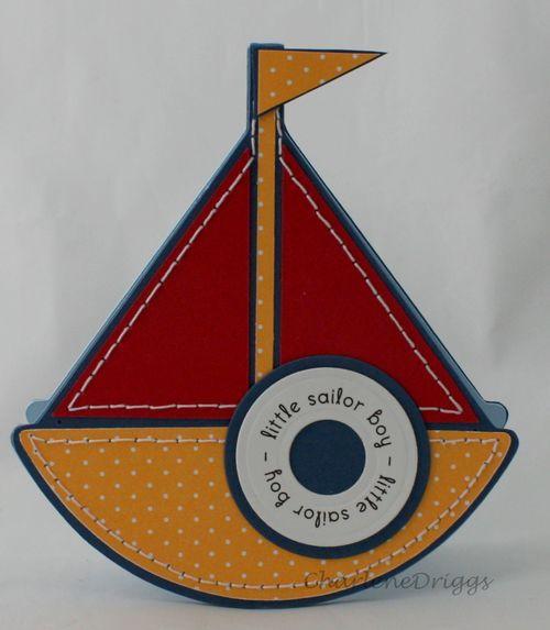 Little sailor shaped card