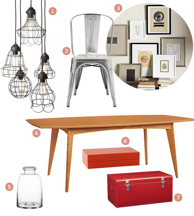 Vintage Mid Century Dining Rooms: Get The Look: Industrial Meets Mid-Century Modern