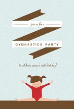 Cute and cheap birthday party invite for your little gymnast! #kidsbirthday #budgetparty #cheapinvitation