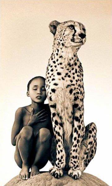 La niña y el Gepardo