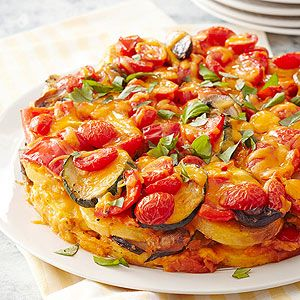 Polenta and Vegetable Torte From Better Homes and Gardens, ideas and improvement projects for your home and garden plus recipes and entertaining ideas.