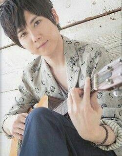 yuuki kaji with Guitar