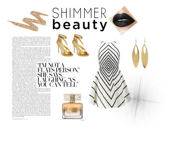 """Shimmer & Gold"" by sienna-mcdermott ❤ liked on Polyvore featuring Imagine by Vince Camuto, Halston Heritage, Urban Decay, Kenneth Jay Lane and Givenchy"