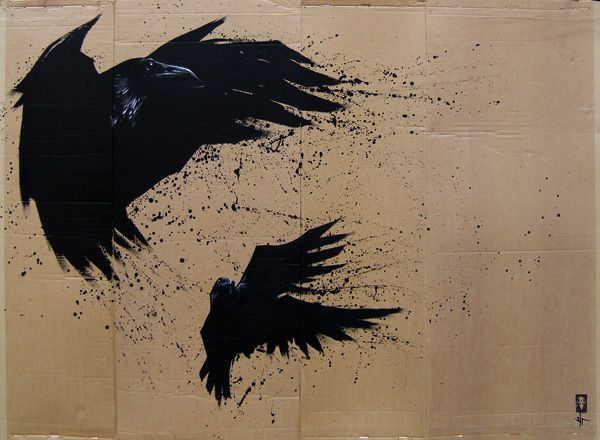 Opportunists 2 - 204 x 140 cm - Acrylic on corrugated cardboard - Sold