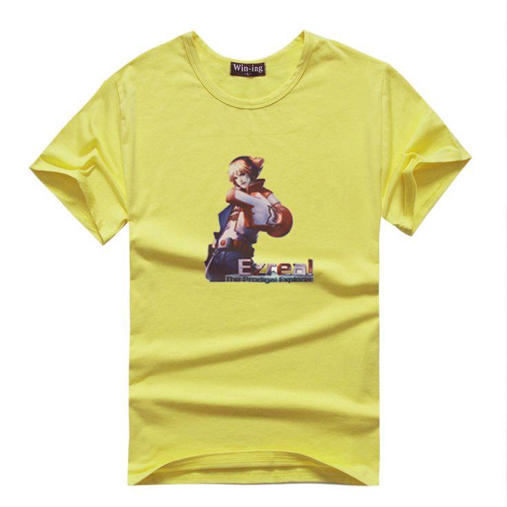 TPA Ezreal Manches Courtes T-shirts couleur unique (16 couleurs) TPA Ezreal Manches Courtes T-shirts couleur unique [LOL 00009]