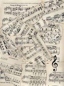 Sheet music ...
