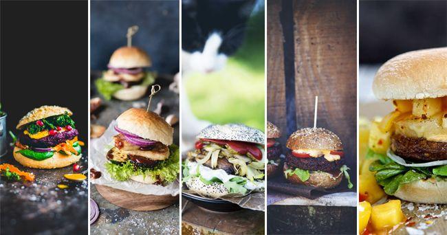 5 vegetariska burgare