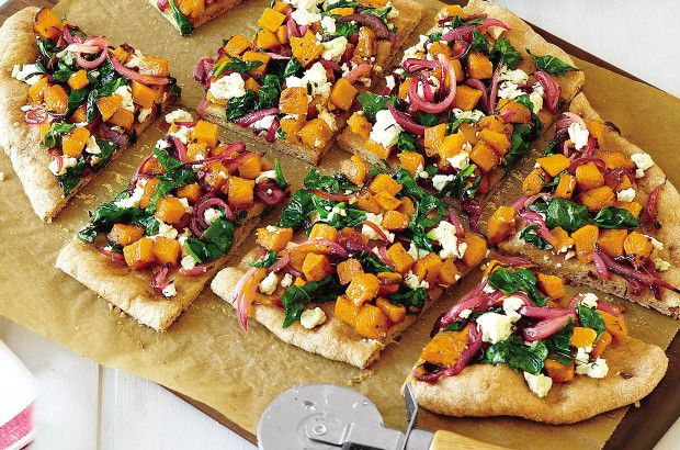... Each!) | Butternut Squash, Spinach and Goat Cheese Pizza recipe