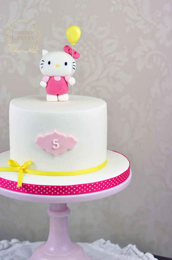 Cake Hello Kitty Pink : Pink and yellow Hello Kitty cake by Juniper Cakery ...