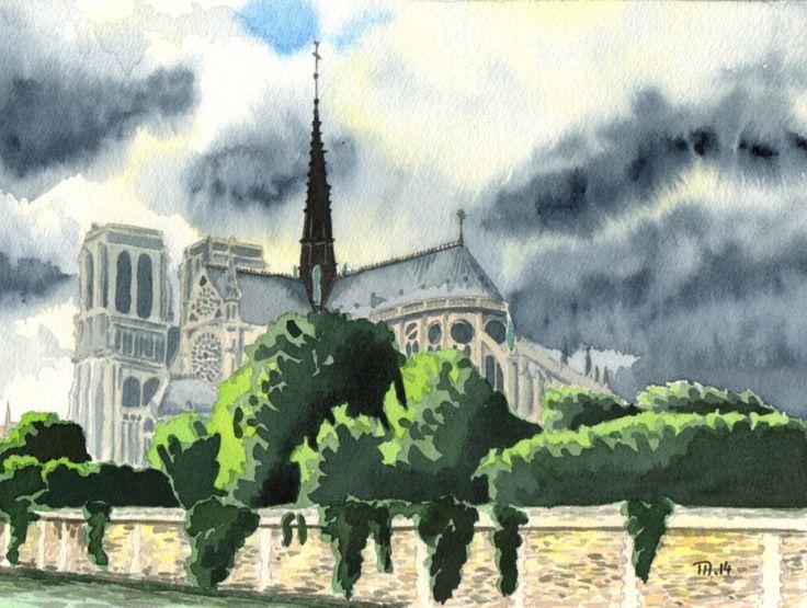 Notre Dame sous les nuages