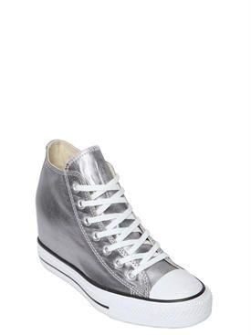 converse - women - sneakers - 80mm all star metallic canvas sneakers