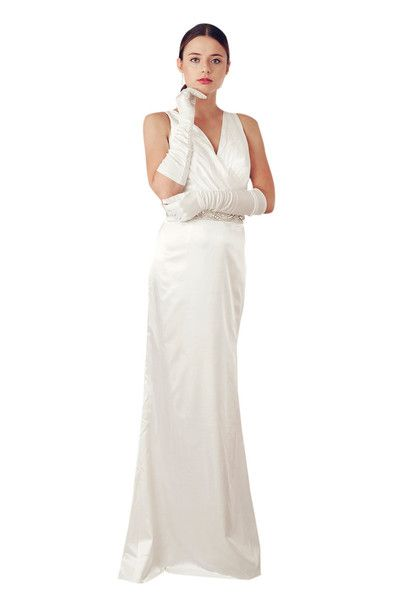 IVORY HALTER NECK WEDDING DRESS (13080) - MADE TO ORDER £395.00 get it from http://www.elliotclaire.com/collections/bridal-bridesmaid/products/ivory-halter-neck-wedding-dress-13080-made-to-order