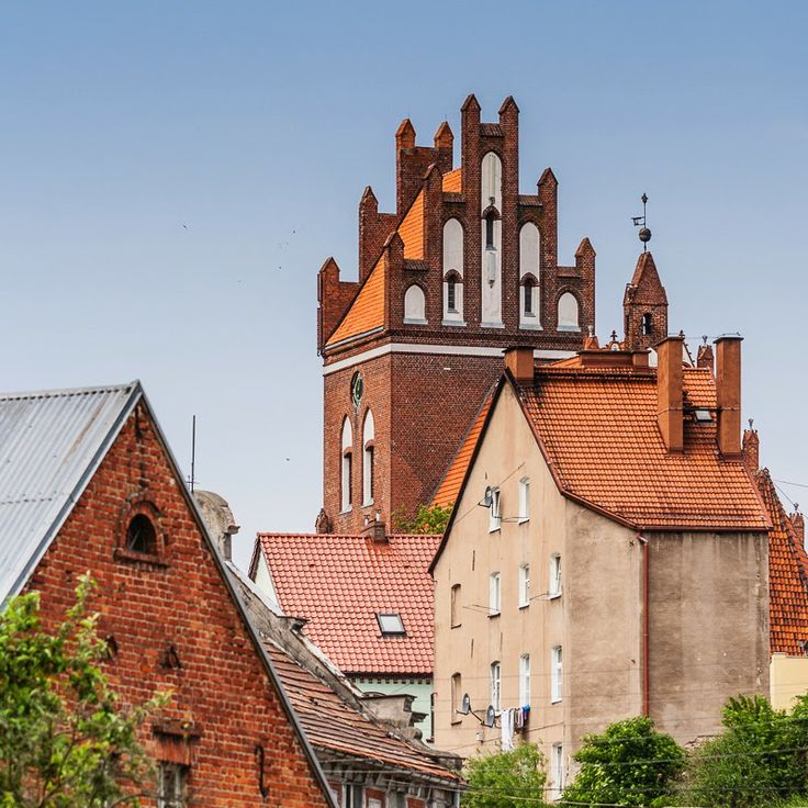 Medieval church of St. Nicolas and surrounded buildings of the Gniew town…