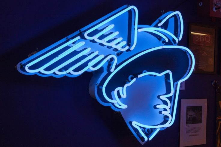 NEON 'MERCURY MAN' SIGN                                                                                                                    ๑෴MustBaSign෴๑