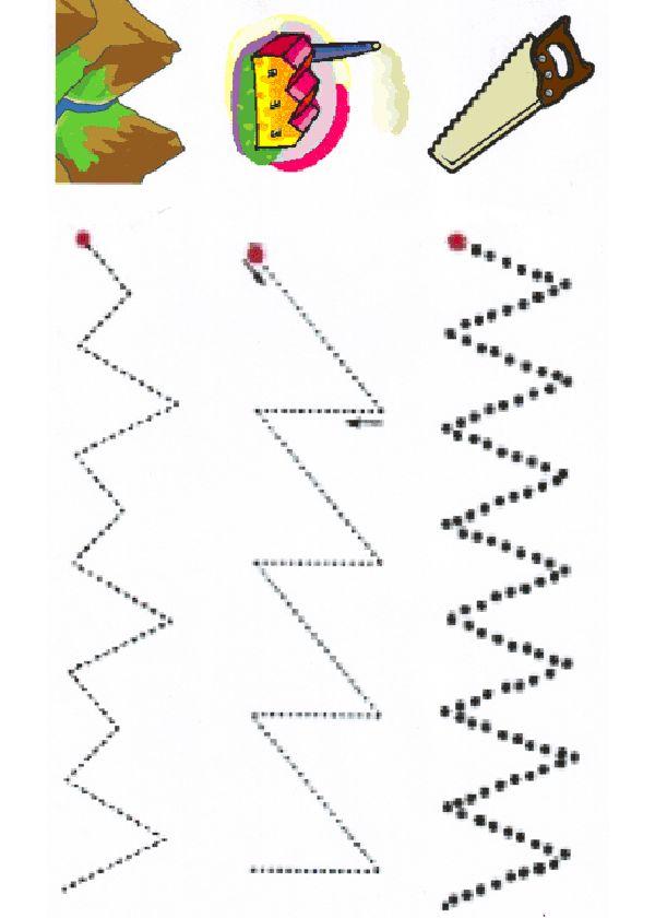 Activités imprimables Coups de base graphomotrices 13
