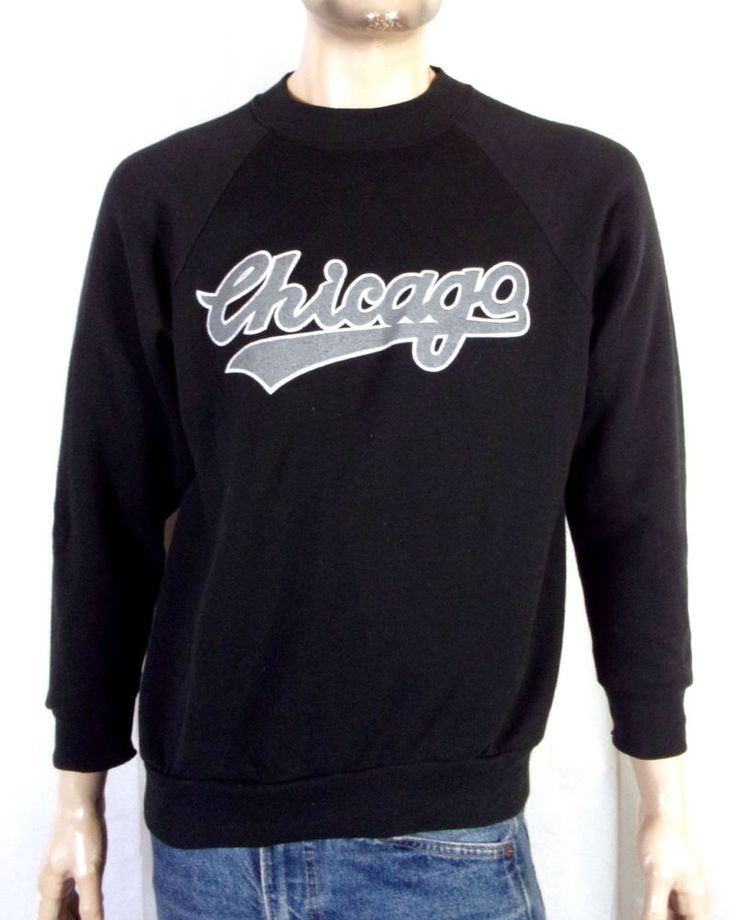 vtg 80s 90s Chicago Tour Raglan Sweatshirt White Sox Rap Hip Hop NWA Dr. Dre  L