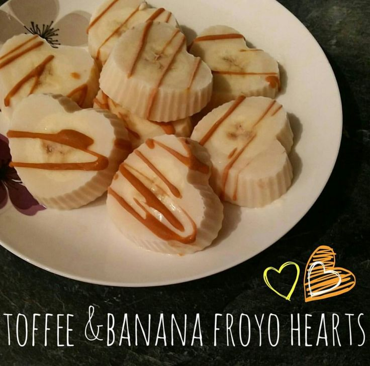 Caramel and banana froyo bites