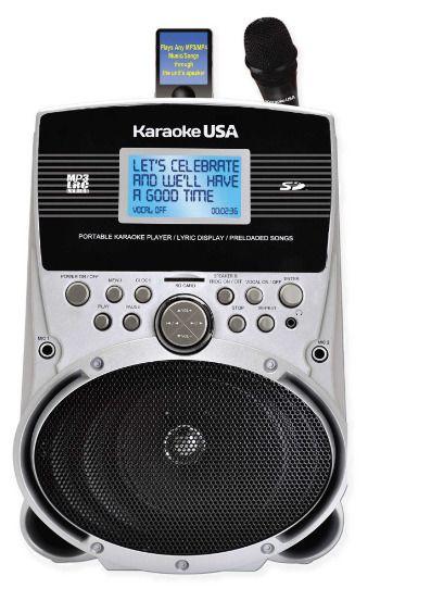 New Portable MP3 Karaoke Player with Screen in Silver Portable Machine Electric #KaraokeUSA