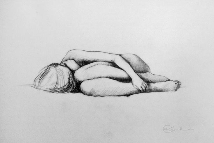Girl_Drawing by Nadia Kalakina