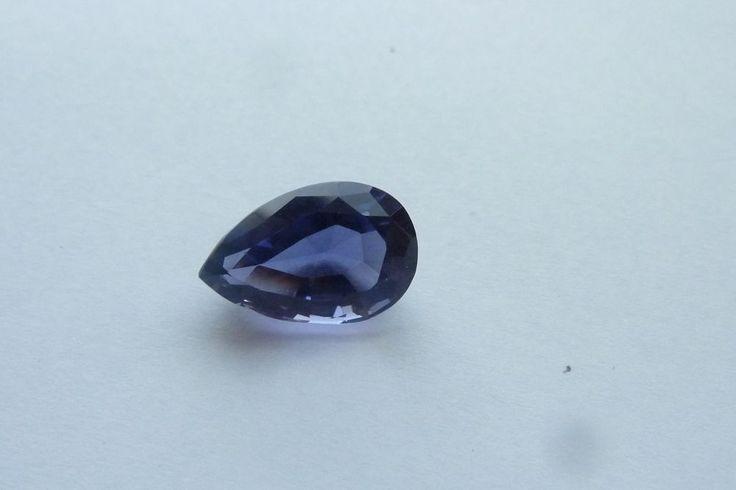 4.03 Cts Pear Shape Blue Color 100% Natural Iolite Loose Gemstone~13X8.50~MM #KinuBabaGems