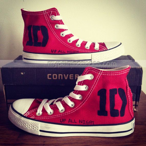 1D #One Direction Shoes 1D One Direction Hand Painted Canvas Shoe,High-top Painted Canvas Shoes