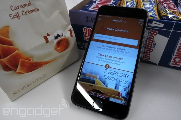 Amazon Prime Now brought me candy in 23 minutes by Devindra Hardawar | 12/18/14 Amazon's new one-hour delivery service, Prime Now, works so well it might just inspire entirely new levels of laziness in all of us.