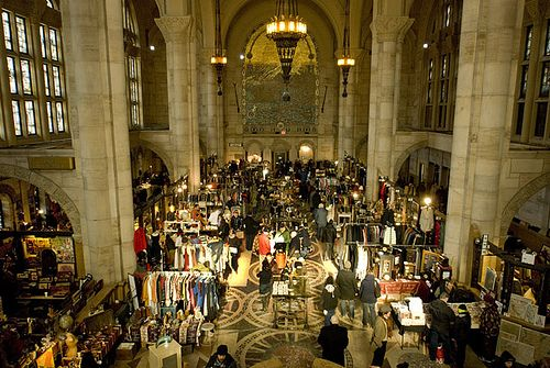 HEAVEN. HEAVEN ON EARTH. HEAVEN.    The Brooklyn Flea Market, located in the Williamsburgh Savings Bank Building at One Hanson Place, the tallest building in Fort Greene, in the borough of Brooklyn, New York. by jackie weisberg, via Flickr