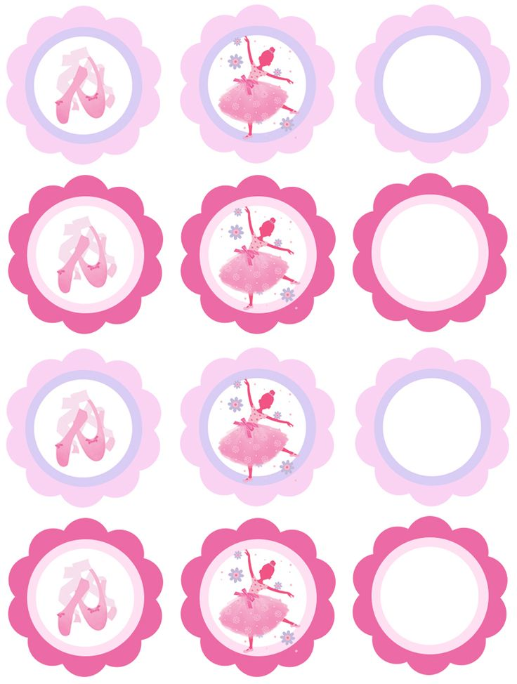 cupcake toppers sheet ballerina  http://www.partyinabox.co.il