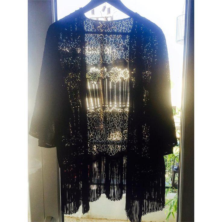 Presenting our 'Viola' Limited Edition Kimono#giuliashandmadeclothing#viola#lace#kimono#black