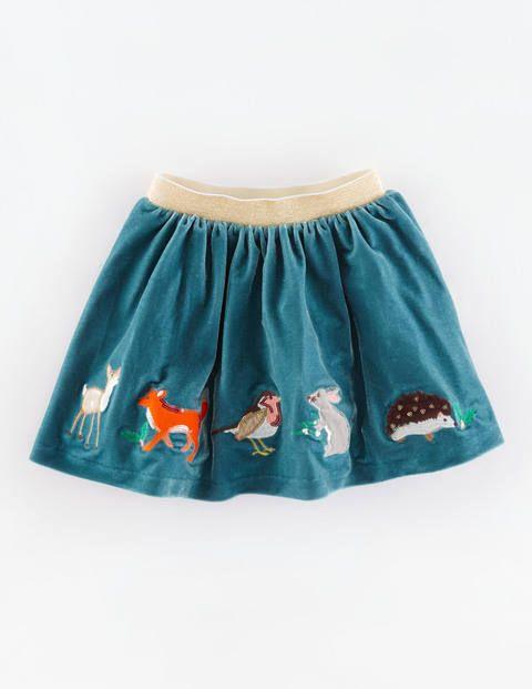 Velvet Appliqué Skirt