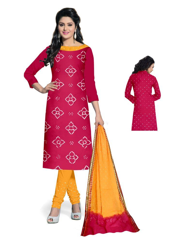 Bandhani dress material images of jesus