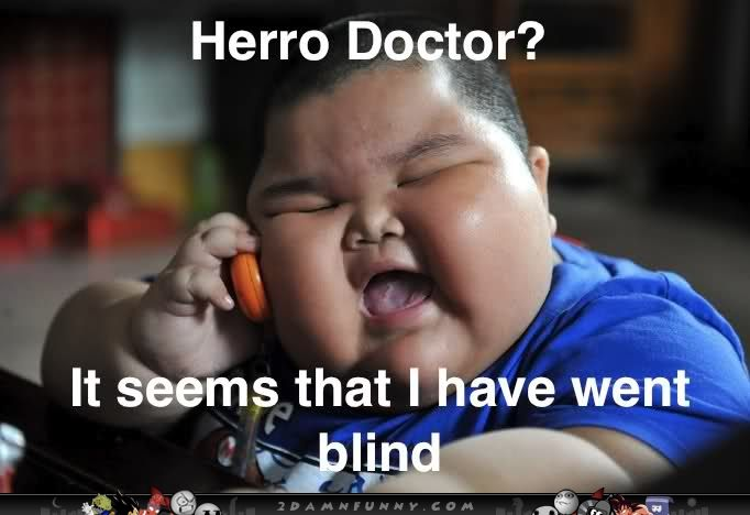 Fat Chinese Kid Meme Went Blind