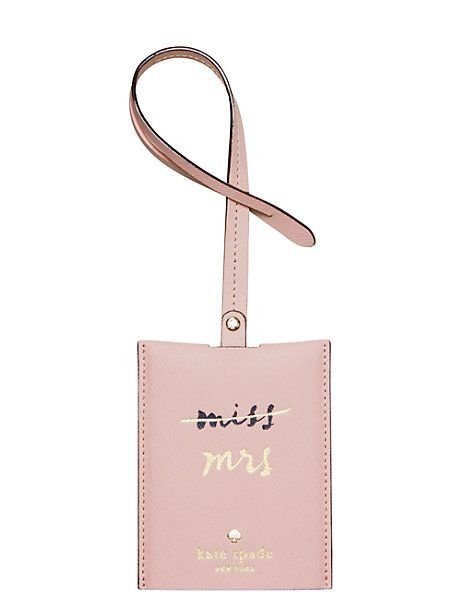 When you jet off for your honeymoon, you'll want an updated luggage tag! (Wedding belles luggage tag - Kate Spade New York)