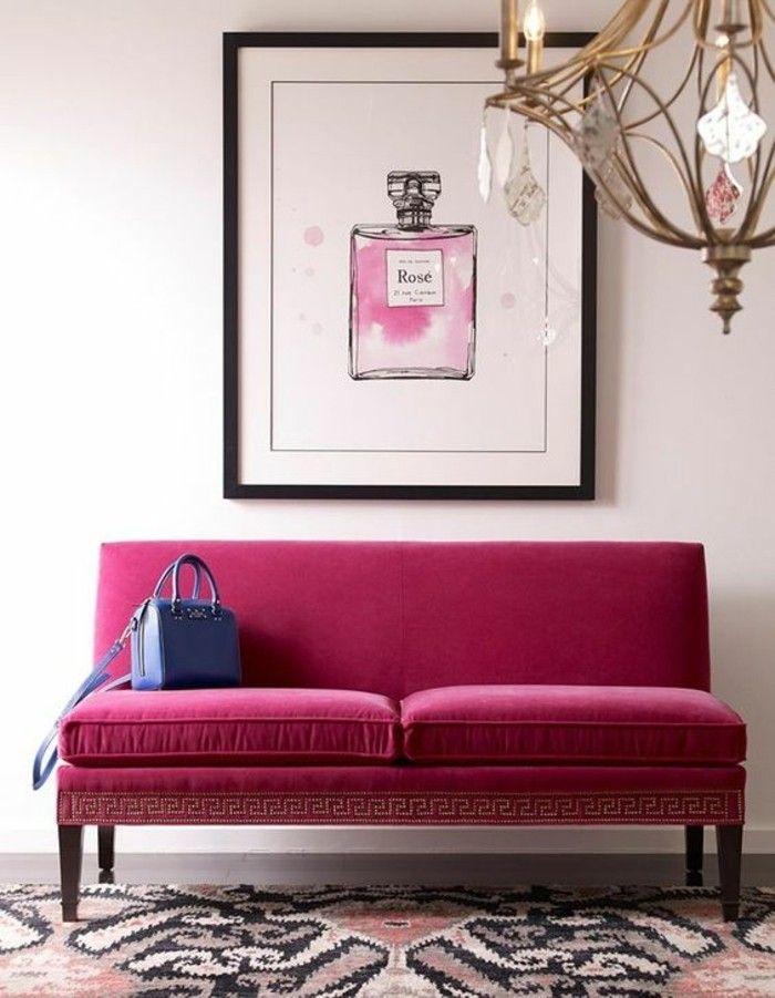 Les 20 meilleures id es de la cat gorie chambre coucher for Chambre couleur framboise