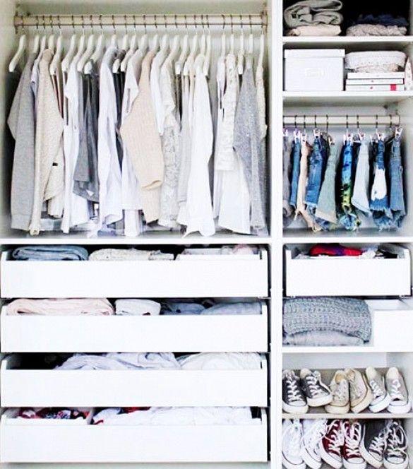 11 Closet Organization Ideas From Pinterest via @WhoWhatWear @gtl_clothing #getthelook http://gtl.clothing