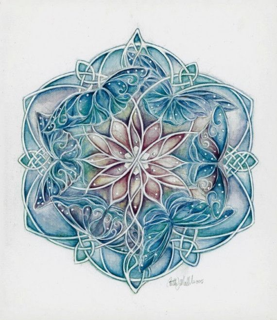 Celtic Butterfly Mandala. Symbolizes unity and harmony, along with femininity and transformation. Absolutely gorgeous.