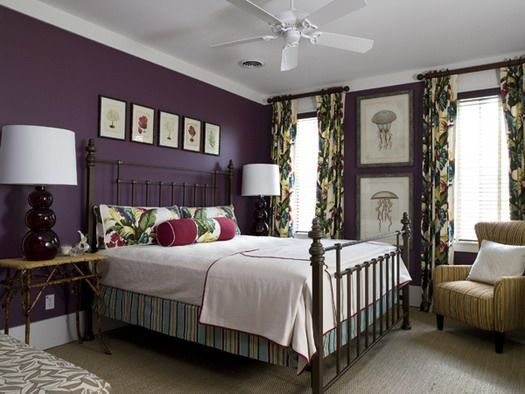Purple bedroom retro furniture