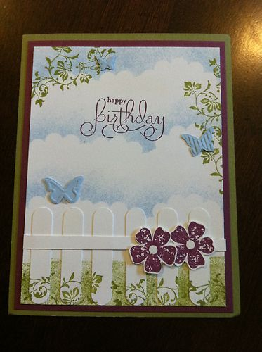 SU Vintage Vogue, Beautiful Wings embosslit, Word Window punch. Love the 'make up' of this card......