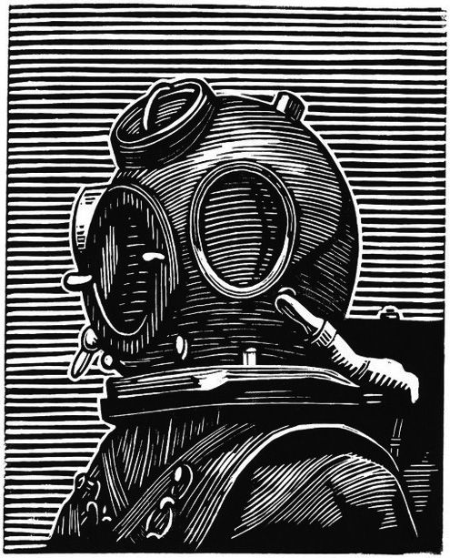 Scuba Lino - i like the horizontals in the background