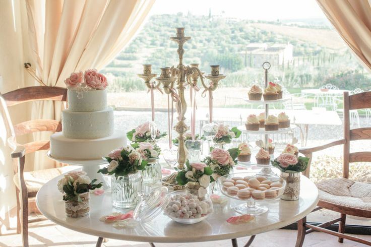 Sweets Table #tuscanywedding #confetti #wedding planner