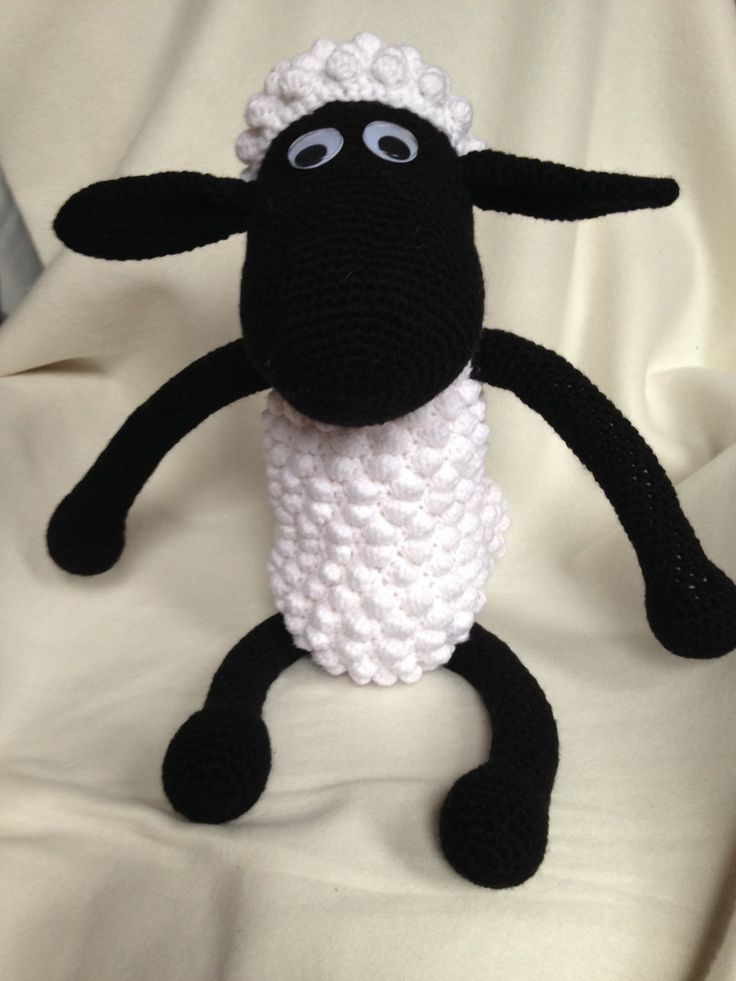 A personal favorite from my Etsy shop https://www.etsy.com/ca/listing/272097314/large-shaun-the-sheep-inspired-crochet